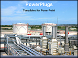 PowerPoint Template - plant of a chemical industry