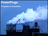 PowerPoint Template - smoke coming out from industrial chimney