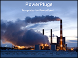 PowerPoint Template - smoke coming out from power plant
