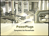 PowerPoint Template - inside of a beer factory