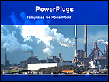 PowerPoint Template - image of a large industry