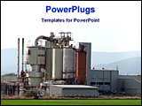 PowerPoint Template - image of a factory