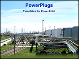 PowerPoint Template - image of oil and gas plant