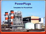 PowerPoint Template - a image of a industrial plant