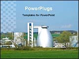 PowerPoint Template - a view of a chemical factory
