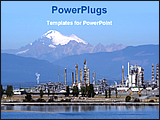 PowerPoint Template - image of a petrochemical industry