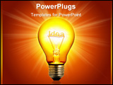 PowerPoint Template - a light bulb with a brilliant idea in it