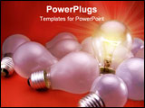 PowerPoint Template - a figurative picture of light bulbs.