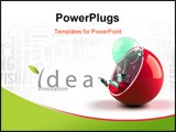 PowerPoint Template - Light bulb, could be a symbol for an idea, and being green