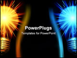 PowerPoint Template - two shiny bulbs half