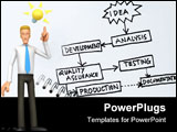 PowerPoint Template - From idea to product concept with flowchart