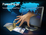 PowerPoint Template - Identity theft on the web with credit cards and social security