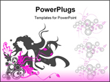 PowerPoint Template - Floral background. Vector illustration for using in different ways