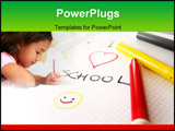 PowerPoint Template - pad, colorful pens and writing