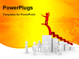 PowerPoint Template - conceptual image of the leader. Isolated 3D image