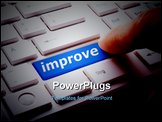 PowerPoint Template - improve or improvement business concept with key on keyboard