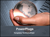 PowerPoint Template - globe holding in hand
