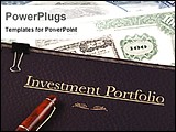 PowerPoint Template - Investment portfolio with currency