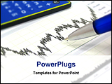 PowerPoint Template - financial chart with calculator and pen