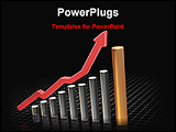 PowerPoint Template - image showing rising profit