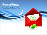 PowerPoint Template - The vector illustration of an e-mail inbox icon.