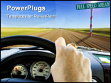PowerPoint Template - driving the rural back roads to escape the big city(motion blur)