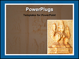PowerPoint Template - image showing old indian art