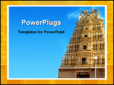 PowerPoint Template - image showing old indian temple