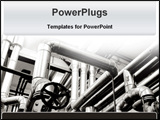 PowerPoint Template - industrial oil pipes