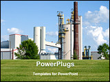 PowerPoint Template - Large industrial manufacturing plant in western Wisconsin