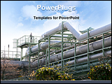 PowerPoint Template - Industrial chemical pipeline