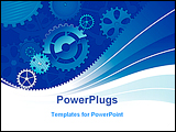 PowerPoint Template - vector illustration of the Blue gears background .