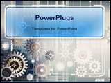 PowerPoint Template - background of gear wheels showing industrial
