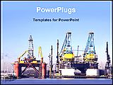 PowerPoint Template - image of shipping industry