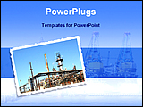 PowerPoint Template - image of oil refinery industry