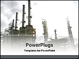 PowerPoint Template - image of oil industry