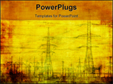 PowerPoint Template - high voltage highly detailed industrial grunge background