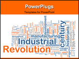 PowerPoint Template - Word cloud concept illustration of industrial revolution