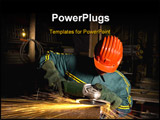 PowerPoint Template - fine image of man use grinder industrial photo