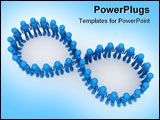 PowerPoint Template - 3d characters crowds isolated on white background series
