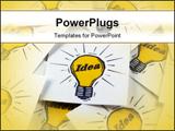 PowerPoint Template - Closeup of Idea Cards