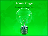 PowerPoint Template - image 3d of green eco light bulb background