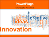 PowerPoint Template - Word cloud concept illustration of innovation creative