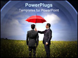 PowerPoint Template - The insurance agent in the field giving you the best protection everywhere