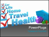 PowerPoint Template - Health Insurance Travel Insurance Home Insurance Life Insurance Car Insurance checklist
