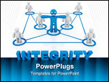 PowerPoint Template - integrity concept computer generated illustration for special design