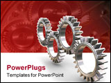 PowerPoint Template - 3D render of interlocking gears