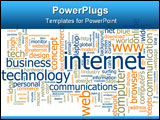 PowerPoint Template - Word cloud concept illustration of internet web