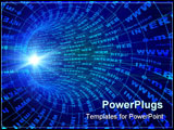 PowerPoint Template - Internet concept. Abstract background of blue color