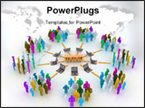 PowerPoint Template - peoples connected to web site via laptop